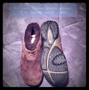 Merrell suede brown shoes